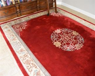 Chinese Wool Area Rug 9' x 12'