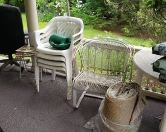 Metal chair and plastics