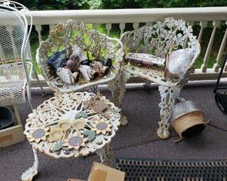 3 piece ornate iron set