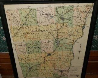 1967 Chenango County Highway Dept Map