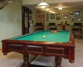 "Brunswick ""The Prestige"" pool table,  $3900"