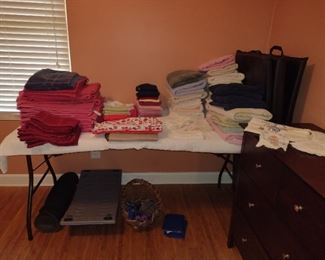 Workout goods, towels, sheets