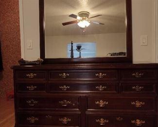 Dresser and mirror, Bassett