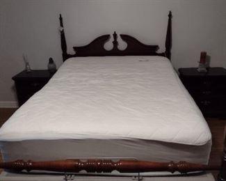 Bassett Queen bed with Tempurpedic mattress and adjustable base