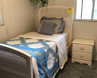 Very nice twin bed w/ mattress, springs, frame. Mattress like new.
