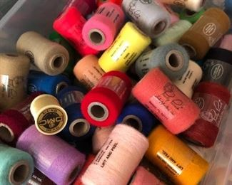 Tons of ultimate thread for punch embroidery