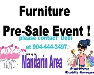 furniture pre sale