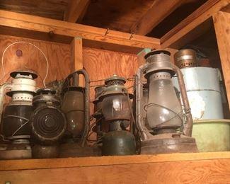 vintage lanterns -dietz and more