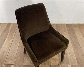 Velvety Contemporary Brown Accent Chair