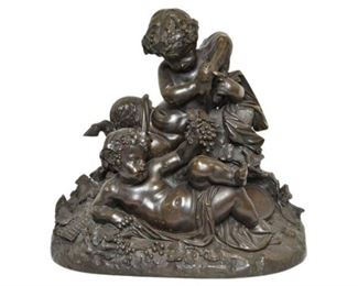 19th Century Bronze Figural Grouping