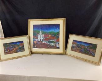 Vincente Martinez Colombian Canvas Oil Paintings