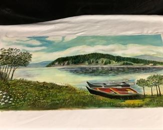 Lake Side Loose Canvas Oil Painting