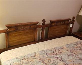 King headboard, mattress set