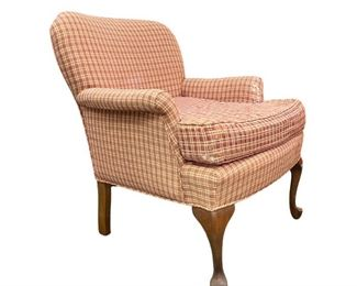 Queen Anne Style Red Armchair