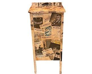 Broadway Playbill Decoupage Cabinet