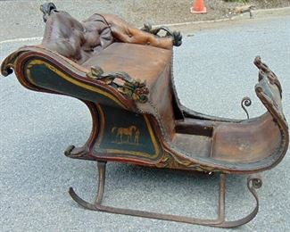 Early paint decorated sleigh