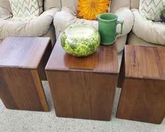 Gorgeous Gerald McCabe set of 3 nesting tables.