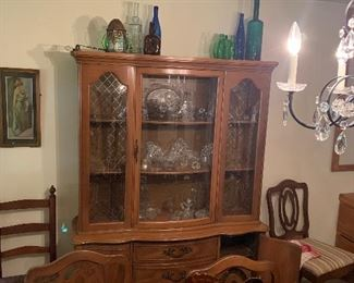 China cupboard with cut glass
