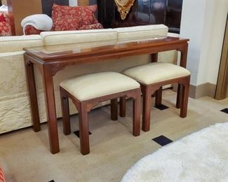 Sofa table and two benches!  High quality!