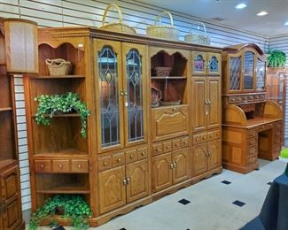 """Three 30"""" sections, corner cabinets 26.5"""", 78"""" tall.  Priced individually.  Excellent condition!"""