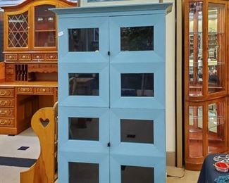 Madrid Vitrine - Ferrat blue cabinet!