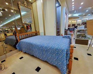 Stickley bed - extra long - the set includes extra long mattress/box springs, and three extra long sheet sets.  The bed is over 60 years old, but still in excellent condition!