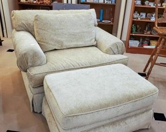 Over-sized Michael Tanner chair and ottoman!  Love!