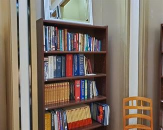 Books!  Adult and children.  White beveled mirror on top!