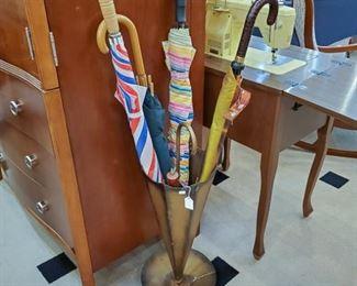 vintage umbrella stand!