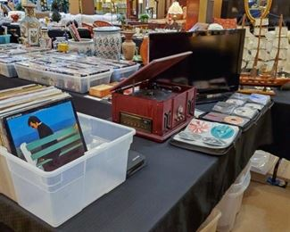 Records, electronics, DVD's, CD's, and more!
