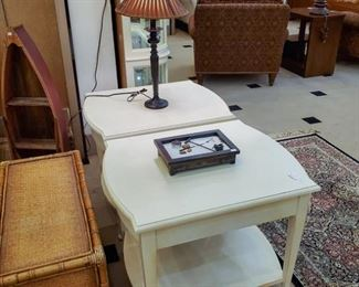 New Lane cream colored end tables!
