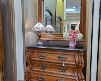 Marble topped chest and mirror!!!  SO INCREDIBLY NICE~~