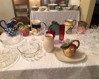 Decorative Pitchers and Glassware