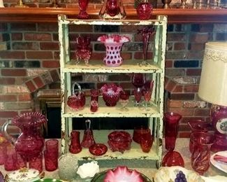 Much glassware and china