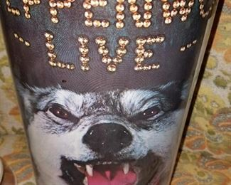 Wide variety of collectibles!! Steppenwolf Live trash can