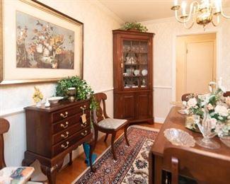Henkel Harriss corner cabinet
