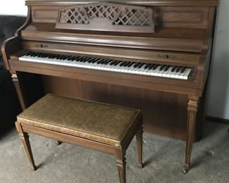 Piano needs tuning and some keys stick but otherwise in excellent condition.