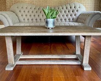"Item 7:  Arhaus Furniture Rustic Wood Coffee Table - 54""l x 30""w x 19""h: $395"