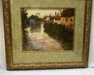 Village scene Artwork - Frame