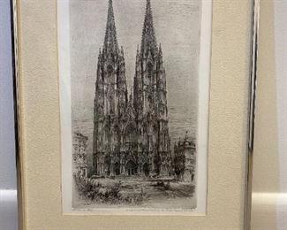 Paul Geissler Etching - Framed