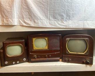 Three Antique TVs