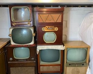 Vintage and Antique TVs Lot of Six