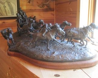 Bill Chapell Bronze (American 1919-2010). Edition of 15 but only 3 made.