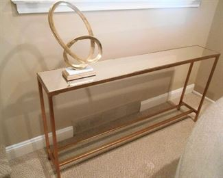 Modern Abstract Sculpture & Sofa Table