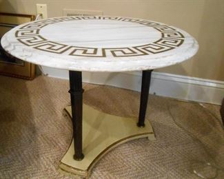 Decorator Style Marble Top Table
