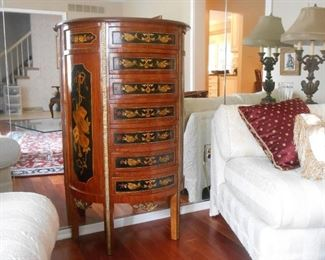 Marquetry Inlay Lingerie Chest