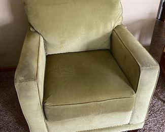 Light green velour chair