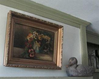 Oil painting Pansies
