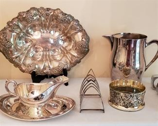 Silver Plate service Pieces