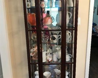 Ethan Allen Lighted Curio Cabinet